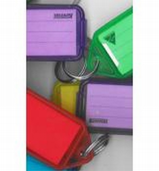 Sleutellabel hard plastic (per10 stuks) klein  per stuk